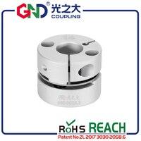 Coupling GND aluminum alloy CNC D28mm L21.5mm single diaphragm clamp for hollow encoder shaft coupling 3d printer motor connect