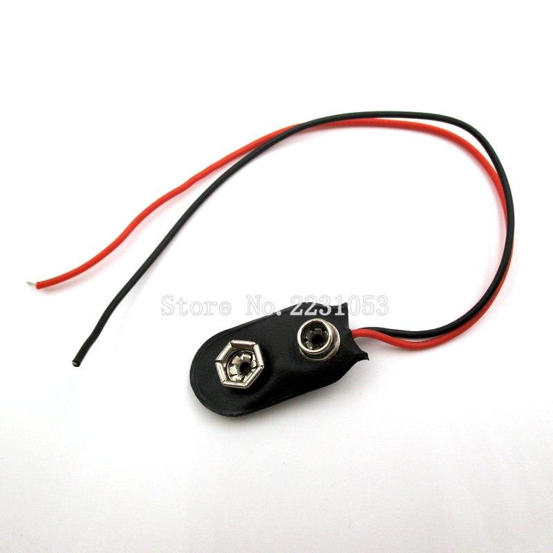 Защелкивающийся разъем для аккумулятора 9 В, 10 шт./лот, зажим для батареи для Arduino с держателем проводов, кабель-провод