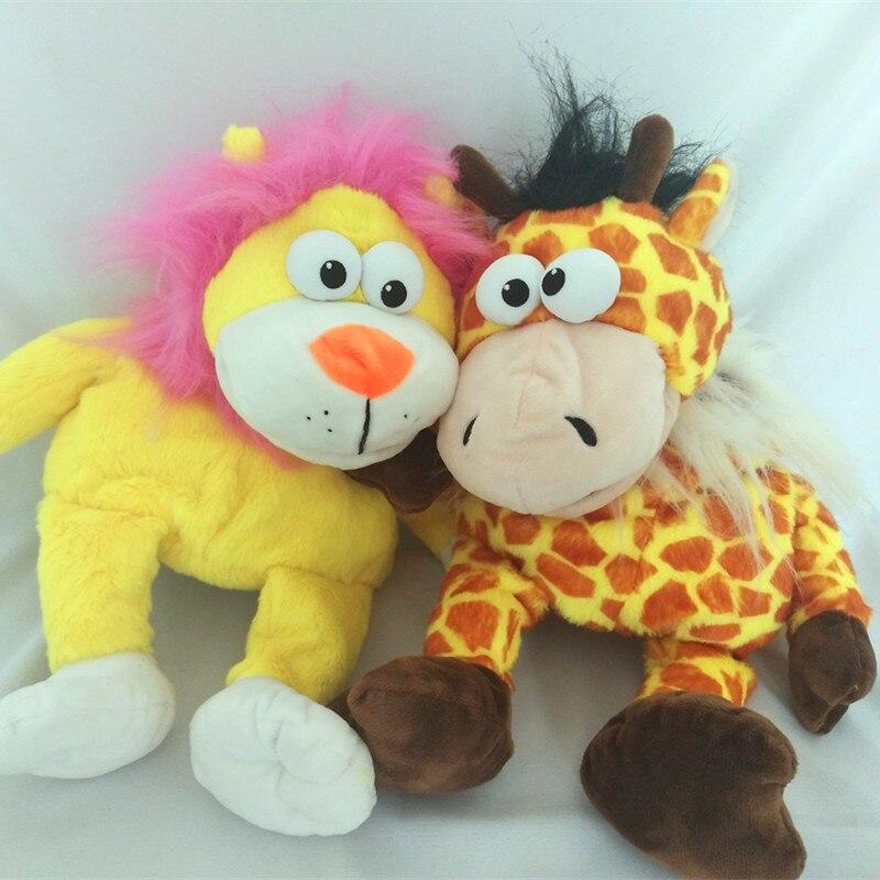 Mimic mees hablar atrás zoo marioneta de jirafa que habla juguetes de peluche bebé aprende a hablar juguetes de peluche regalos de cumpleaños para niños Toydoll