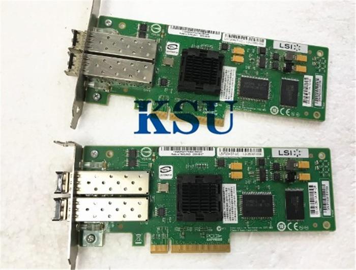 עבור HBA כרטיס LSI7204EP עבור Mac PCI-Express Dual-יציאת 4 Gb/s FC Fibre Channel כרטיס