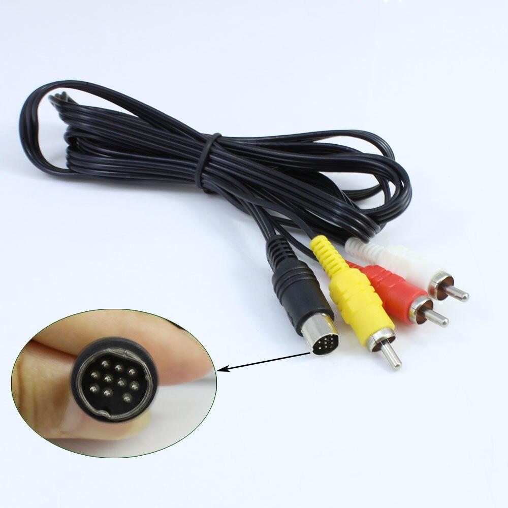 11 Uds mucho níquel macho Cable de Audio y Video Cable AV para SEGA para Saturn RCA Cable SS