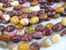 Vente en gros 5 brins 10x14 12x16mm naturel mookaite jasper perle teadrop perle lâche perle