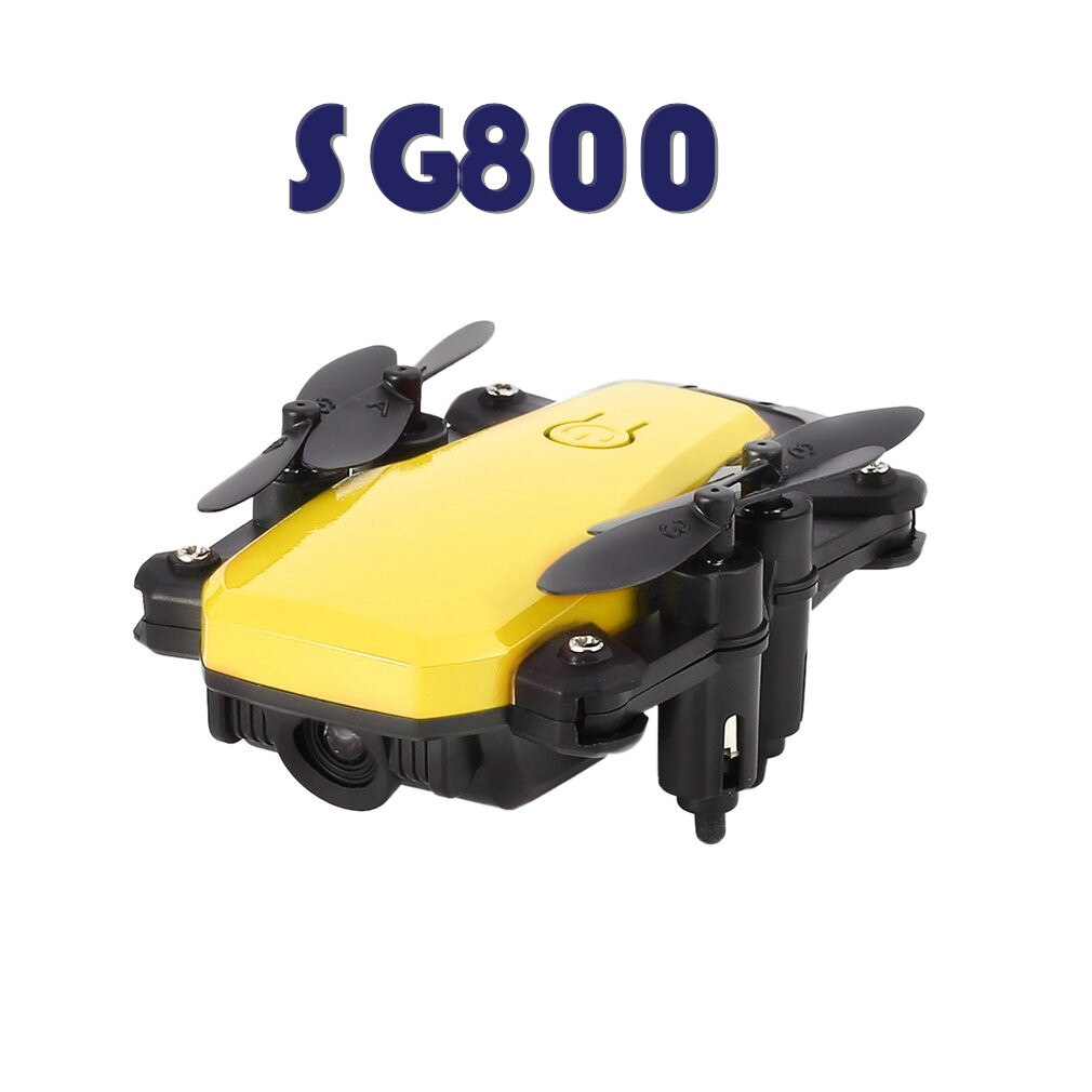 Sm800 2,4 Ghz RC Quadcopter Mini Drone altura mantener una tecla de retorno modo sin cabeza 3D Flip plegable Drone mano izquierda Drone acelerador