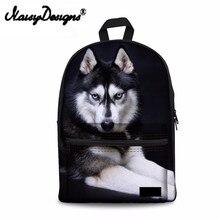 Noisydesigns Women Canvas Backpack Pug Dog Husky Printing Male Backpacks Teens Animal Bagpack Casual Laptop Rucksack Daily Bags
