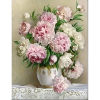 3d square drill peony modern home decoration diy diamond painting peony floral needlework full diamond embroidery painting a47r