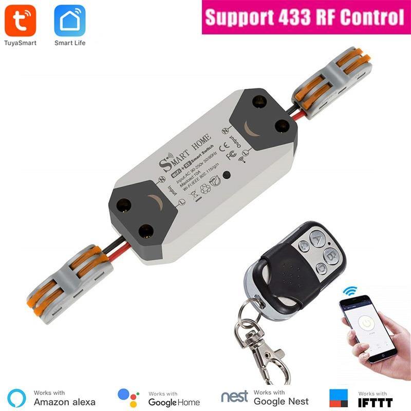 Controle remoto smart tuya wifi 433, controle remoto via alexa e google home, automação de casa, faça você mesmo