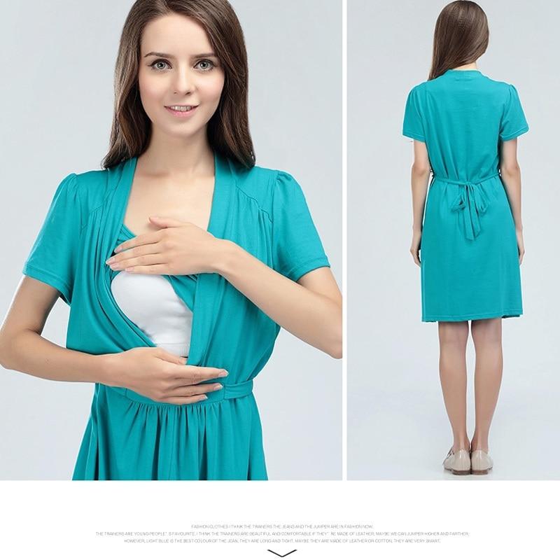 Emotion Moms maternity Clothes Cotton maternity Dress Summer Dresses Breastfeeding Dress for Pregnant Women feeding enlarge
