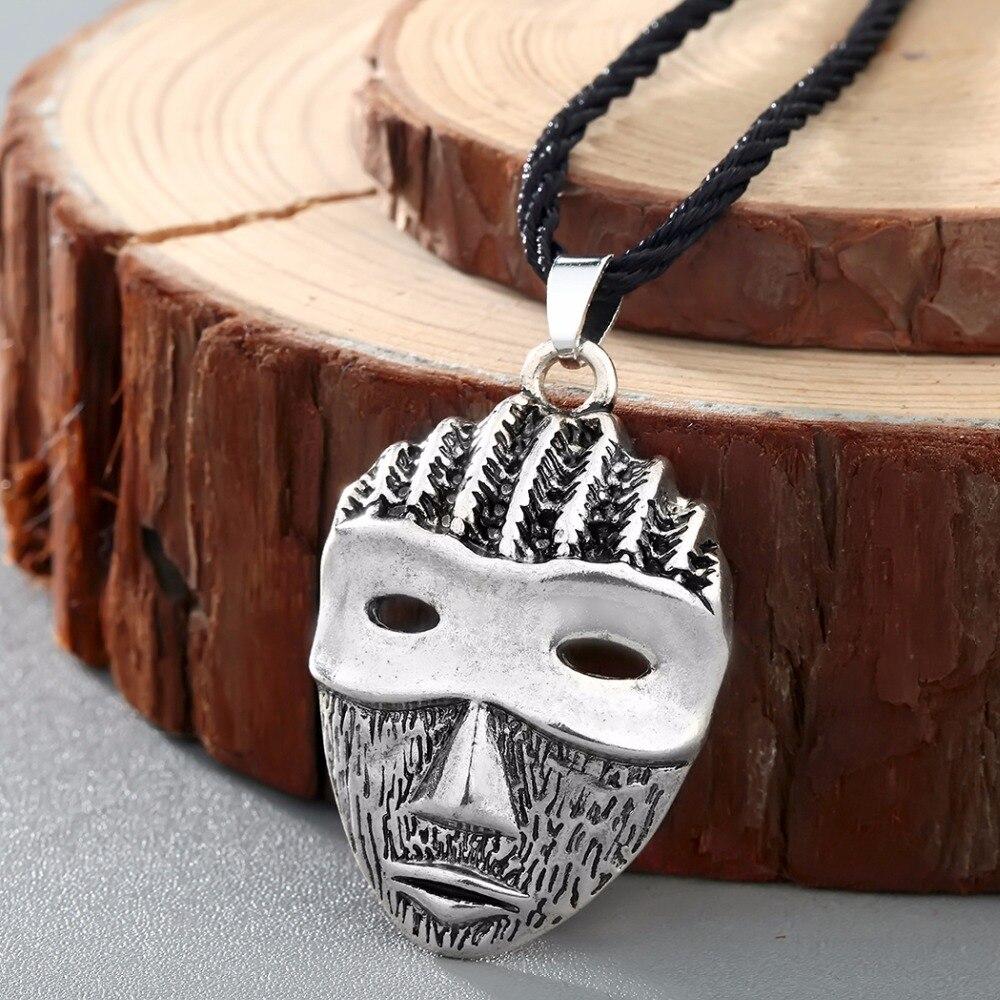 CHENGXUN Viking мужское ожерелье винтажная таинственная маска подвеска крутая веревка Длинная цепочка ожерелье готическое Африканское ювелирное изделие лучшие друзья