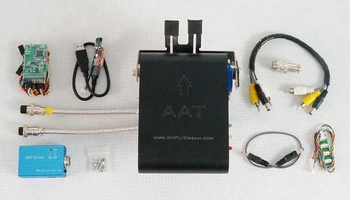 MFD MyFlyDream v5.0 versión 12CH automático de antena Tracker (AAT) sistema FPV MFD innovación el mejor UAV automático original