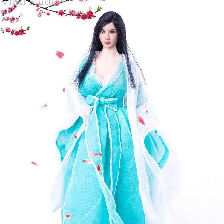 VS055 1/6 vestido de encaje blanco para mujer traje de lazo azul claro traje para 12in Phicen HT Jodoll TTL juguetes muñeca figura de acción