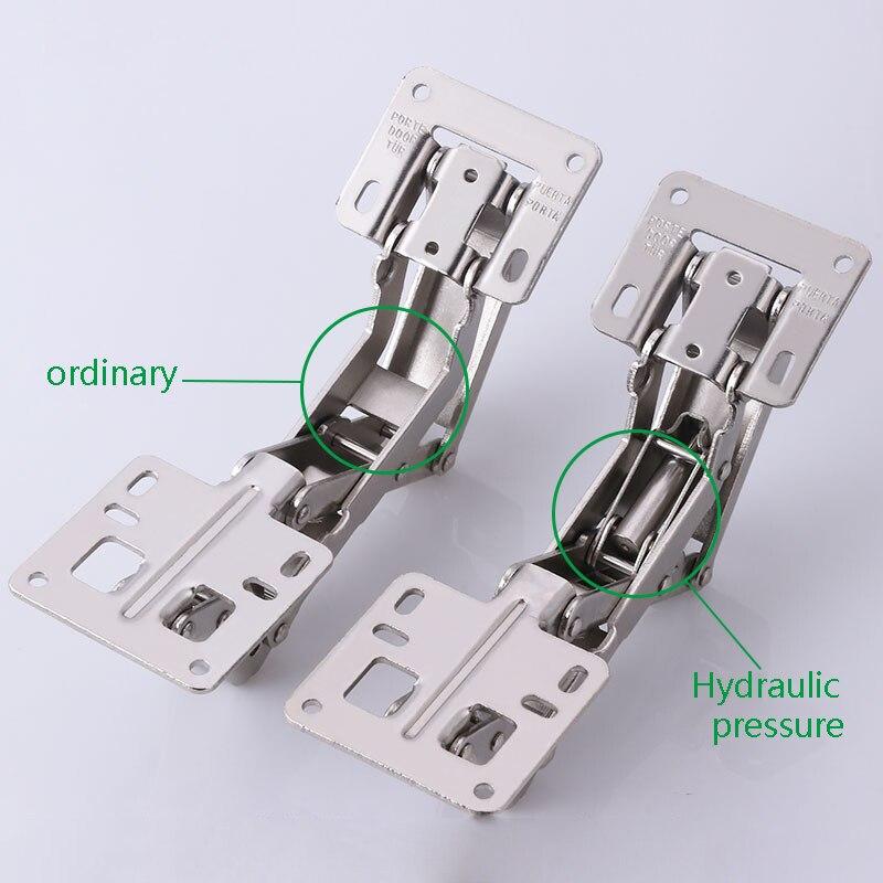 2 unids/lote bisagras para muebles y armarios tipo gran angular de 170 grados forma de puente bisagra de resorte amortiguador hidráulico bisagra grande