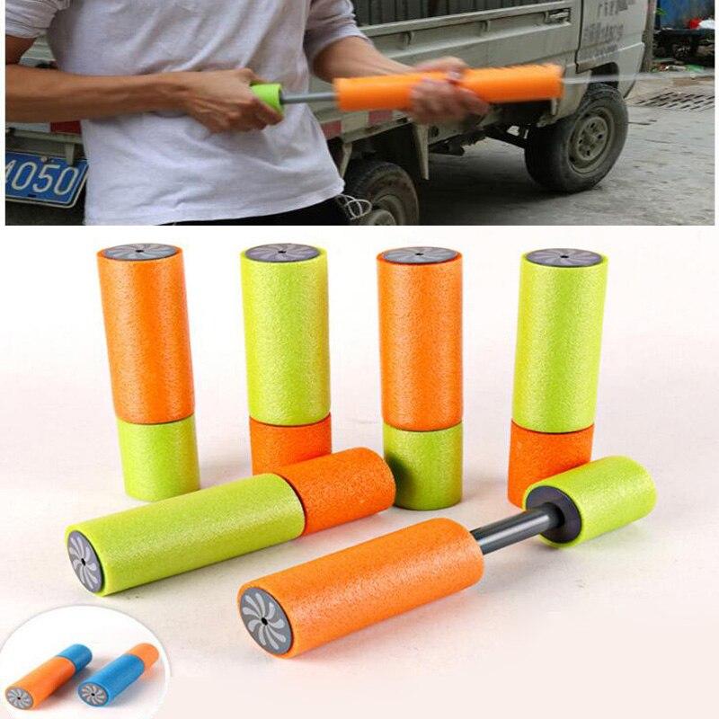 New summer beach swimming toys straight bubble EVA pull type high pressure water gun toys