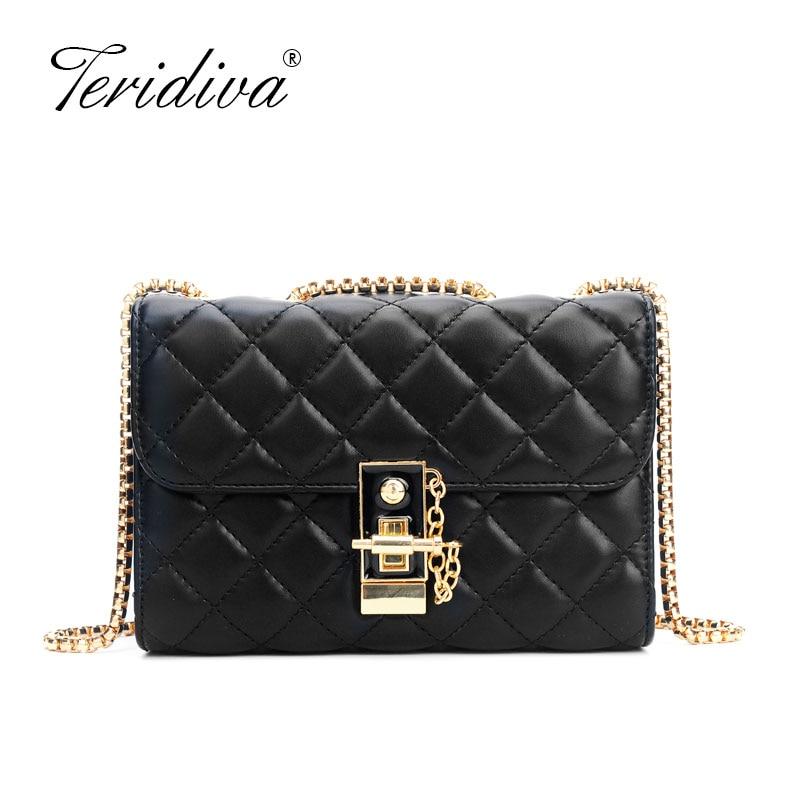 Luxury Handbags Women Messenger Bag Designer Plaid Chain Bag Ladies Crossbody Bags For Women Fashion Shoulder Bags Purse
