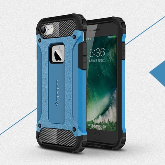 Funda a prueba de golpes para iPhone X XS Max XR 8 7 6 5 s 5s 6s plus 6plus 7plus 8plus funda trasera blindada de alta calidad para teléfono móvil