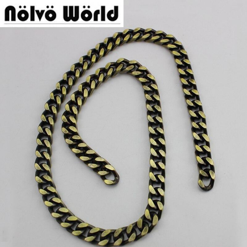 10 metros 8mm Wide 4 Lados Curb Cadeia Retro Bronze Antigo Escova para mulheres sacos bolsas bolsa ajustado