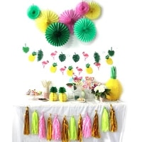 31pcsset summer flamingo theme party decoration hanging pineapples banner photo props tropical birthday wedding party supplies
