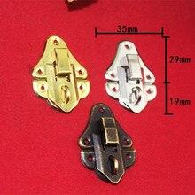 Boîte à bijoux en fer Antique   Cadenas à loquet, boîte à vin verrouillée, sac à main, accessoires de quincaillerie à boucle, 35*48mm,20 ensembles