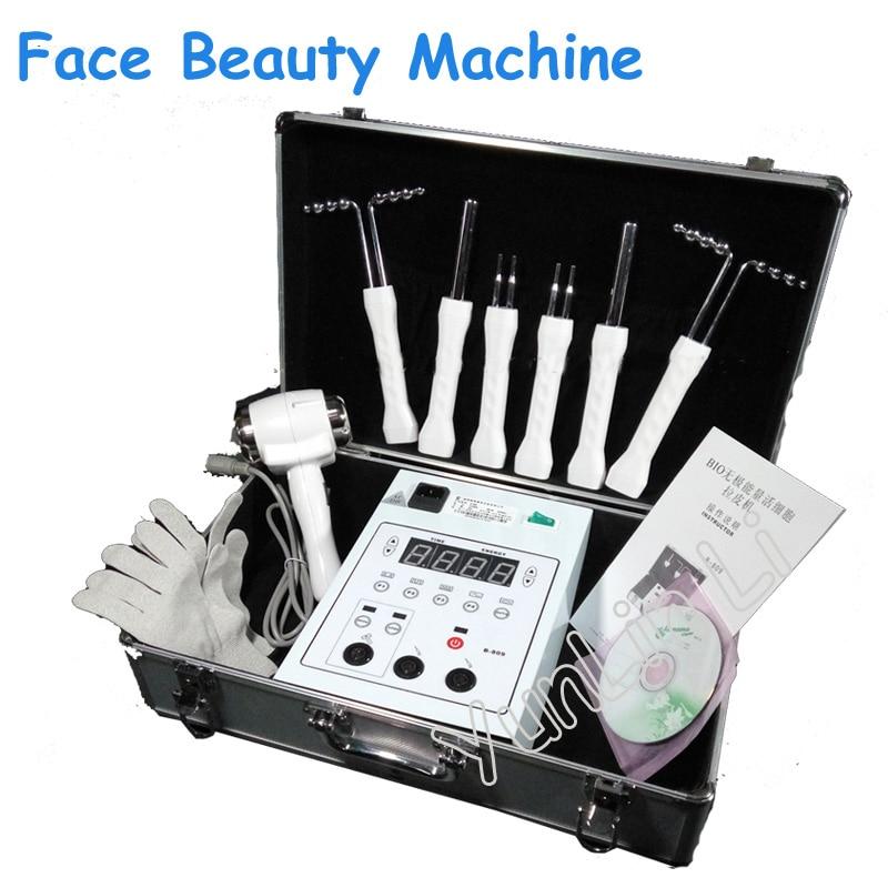 Branquear A Pele Face Lift Máquina Fria e Quente Martelo Face & Remover Rugas Da Beleza Instrumento 220V BIO-energia aparelho de beleza B-809