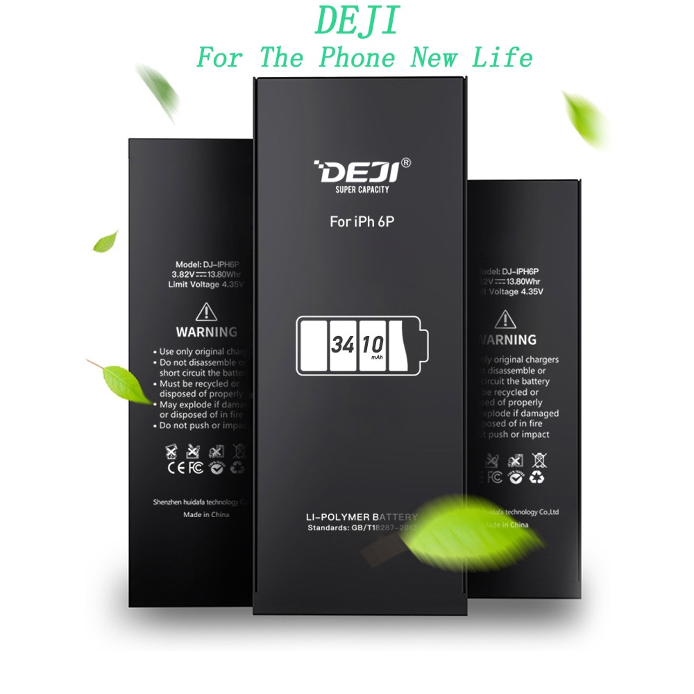 DEJI Original Battery For iPhone 5se/6/6s/6p/6sp With Free Tools Kit High Capacity Mix 5pcs one set of Batteries Replacement enlarge