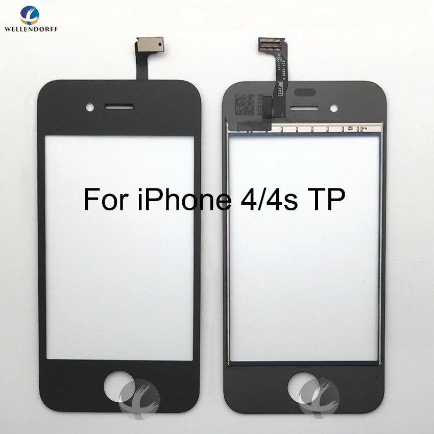 Фронтальный сенсорный экран дигитайзер для iPhone 4 4S Передняя сенсорная стеклянная дигитайзер сборка Сенсорная панель Замена датчика AAA 100% те...