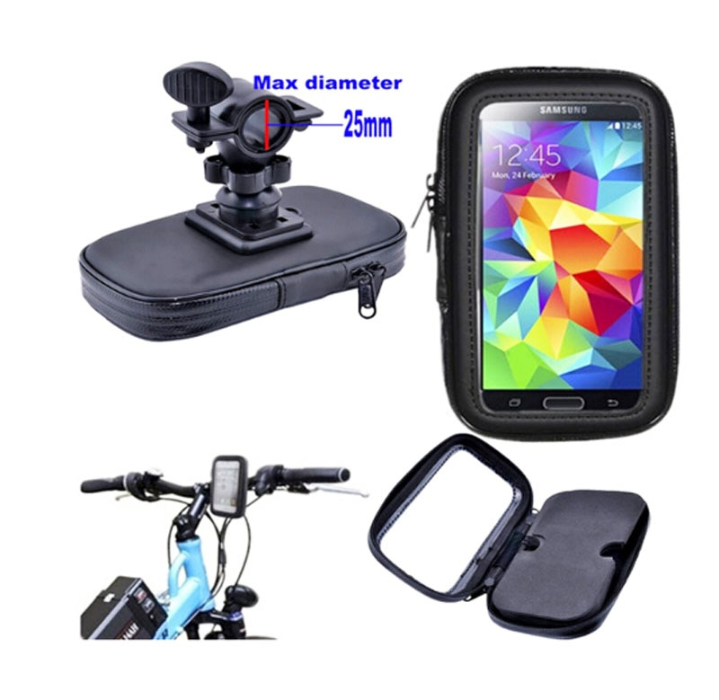 Soporte de teléfono móvil para bicicleta impermeable con pantalla táctil para Moto E4 Plus/Z2 Play/G5S/G5S Plus, Bluboo/Maya/Dual/Edge
