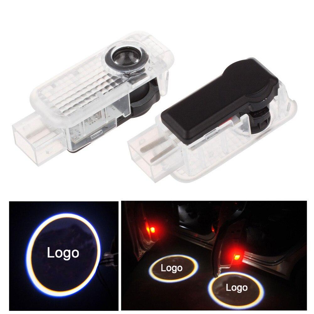 2x Puerta de coche luz sombra del fantasma Bienvenido Luz de proyector de logotipo emblema para A3 S3 A4 S4 S5 A5 A6 S6 A7 A8 TT Q5 Q7