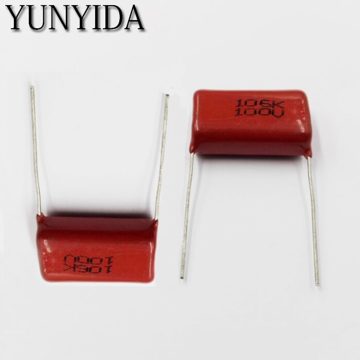 Envío Gratis 5 piezas de la broca del fruto del café 106 k 100 V 10 UF metalizado Condensador de película, 106, 100 V