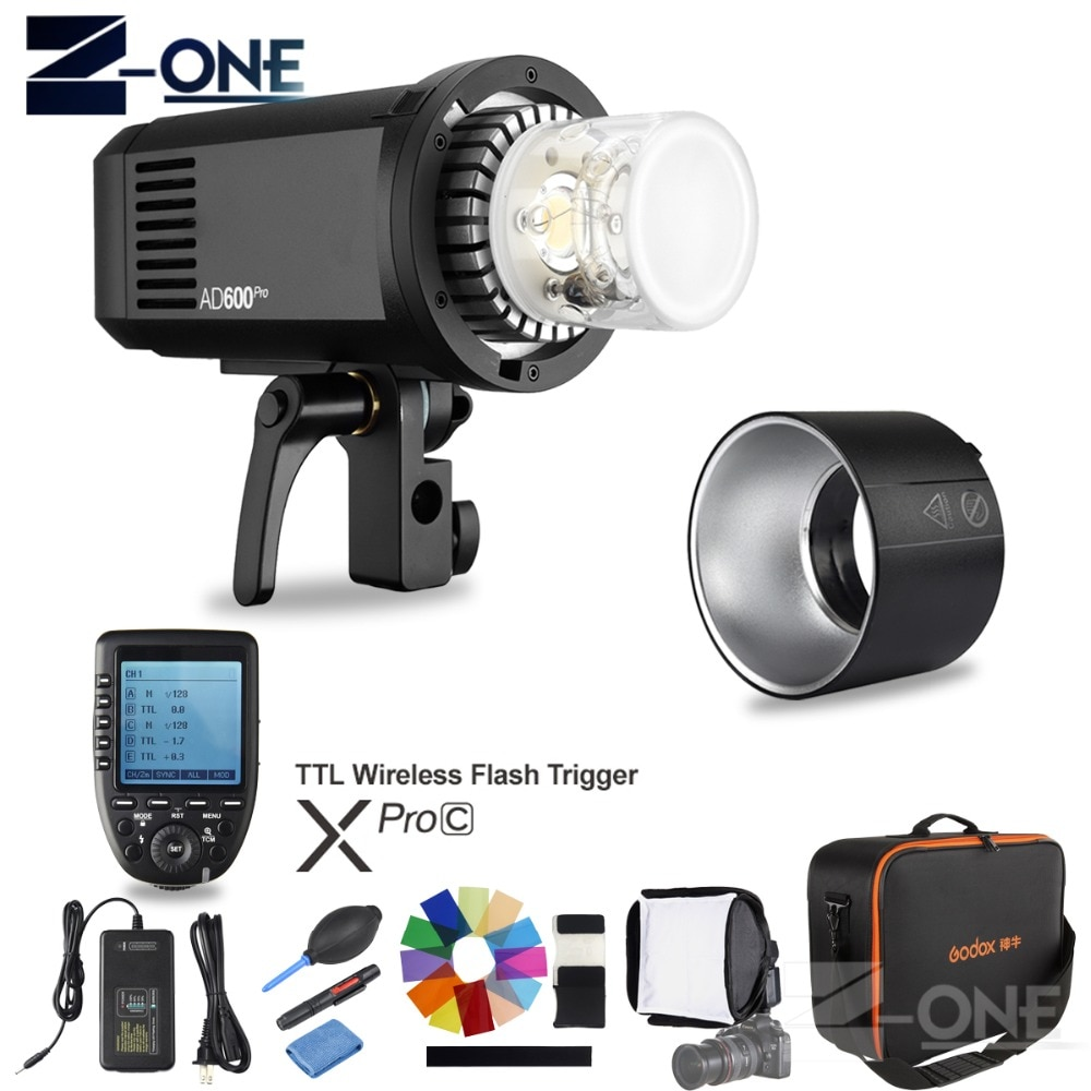 Godox AD600Pro TTL al aire libre li-battery 2,4G inalámbrico X System Studio lámpara estroboscópica para flash + disparador de flash xpro-c para cámaras Canon