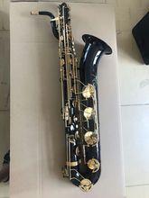 Personnalisé Professionnel Eb Baryton Saxophone Nickel Noir Or corps Bas UN De FA, haute pitch F #, avant F # + cas