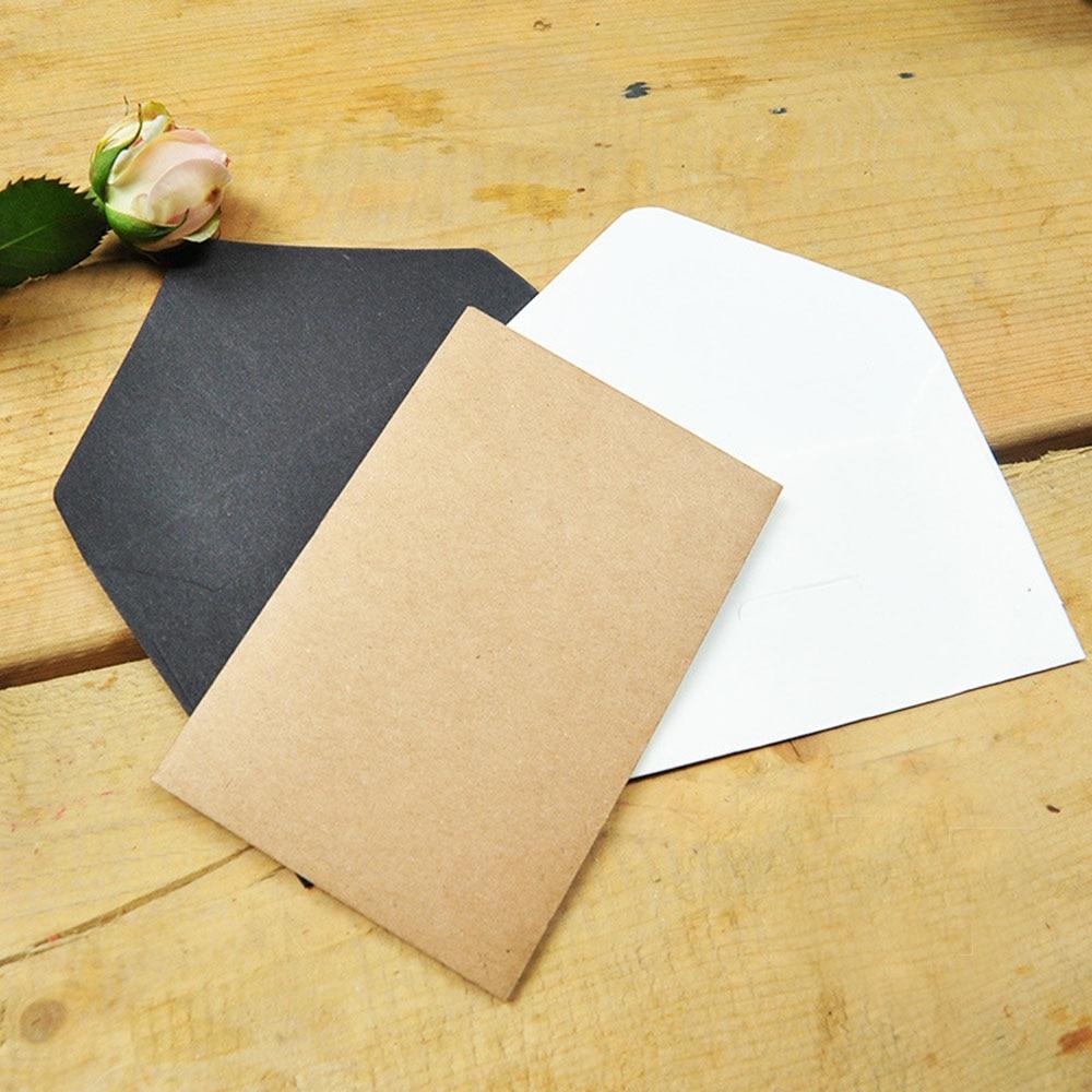 20 pcs/pack Black White Craft Paper Envelopes Vintage European Style Envelope For Card Scrapbooking Gift