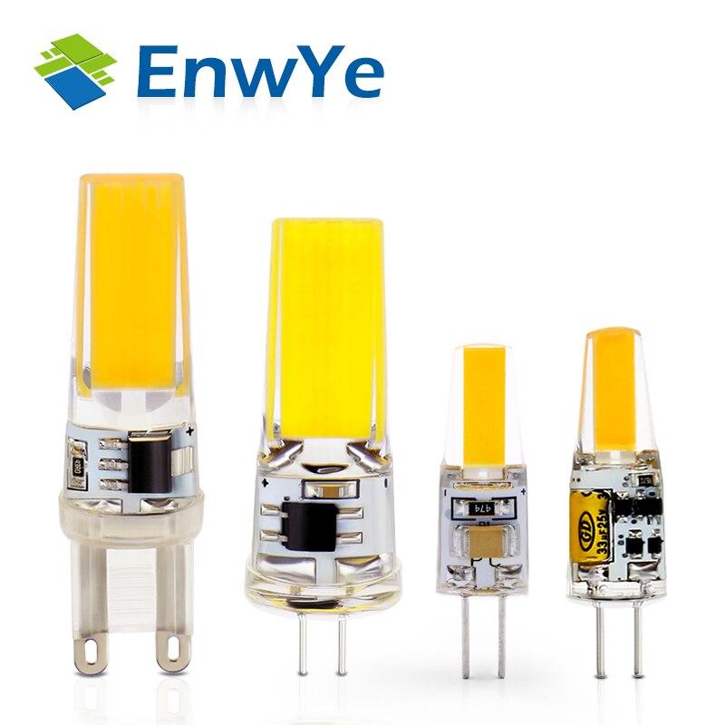 EnwYe  LED Lamp 3W 6W G4 G9 BulbAC/DC 12V 220V  Bulb  dimmable  COB SMD LED Lighting Lights replace Halogen Spotlight Chandelier