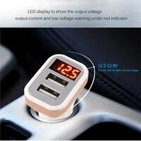 5V USB Автомобильное зарядное устройство со светодиодным экраном Smart Auto для iPhone 7 Samsung Xiaomi автомобильный мобильный телефон зарядное устройство...