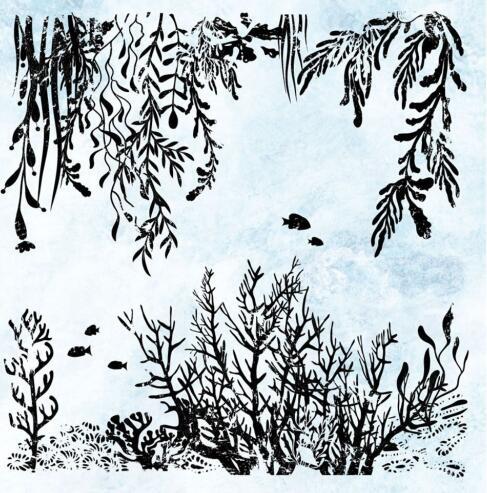 Fondo coral claro sello de silicona/sello para DIY scrapbooking/álbum de fotos decorativo claro sello hojas M1363