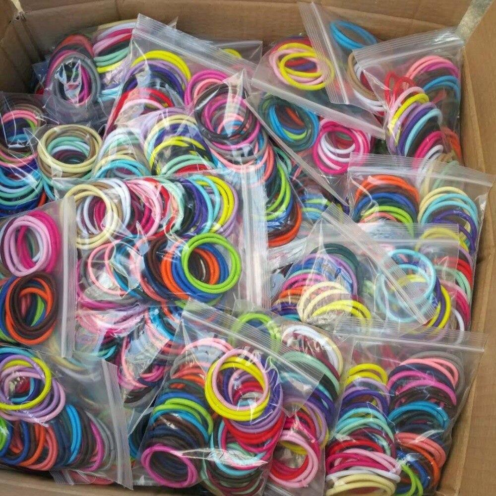 50 Uds., envío gratis, espeso, sin problemas, bandas elásticas para el cabello, bonios Mix