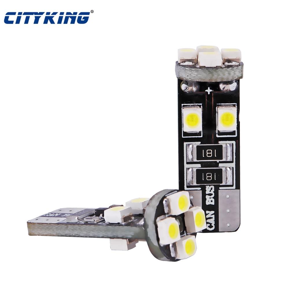 20pcs/Lot canbus T10 led 8SMD 1210 LED Canbus No OBC Error 194 168 W5W T10 8 LED Interior bulb lamp White
