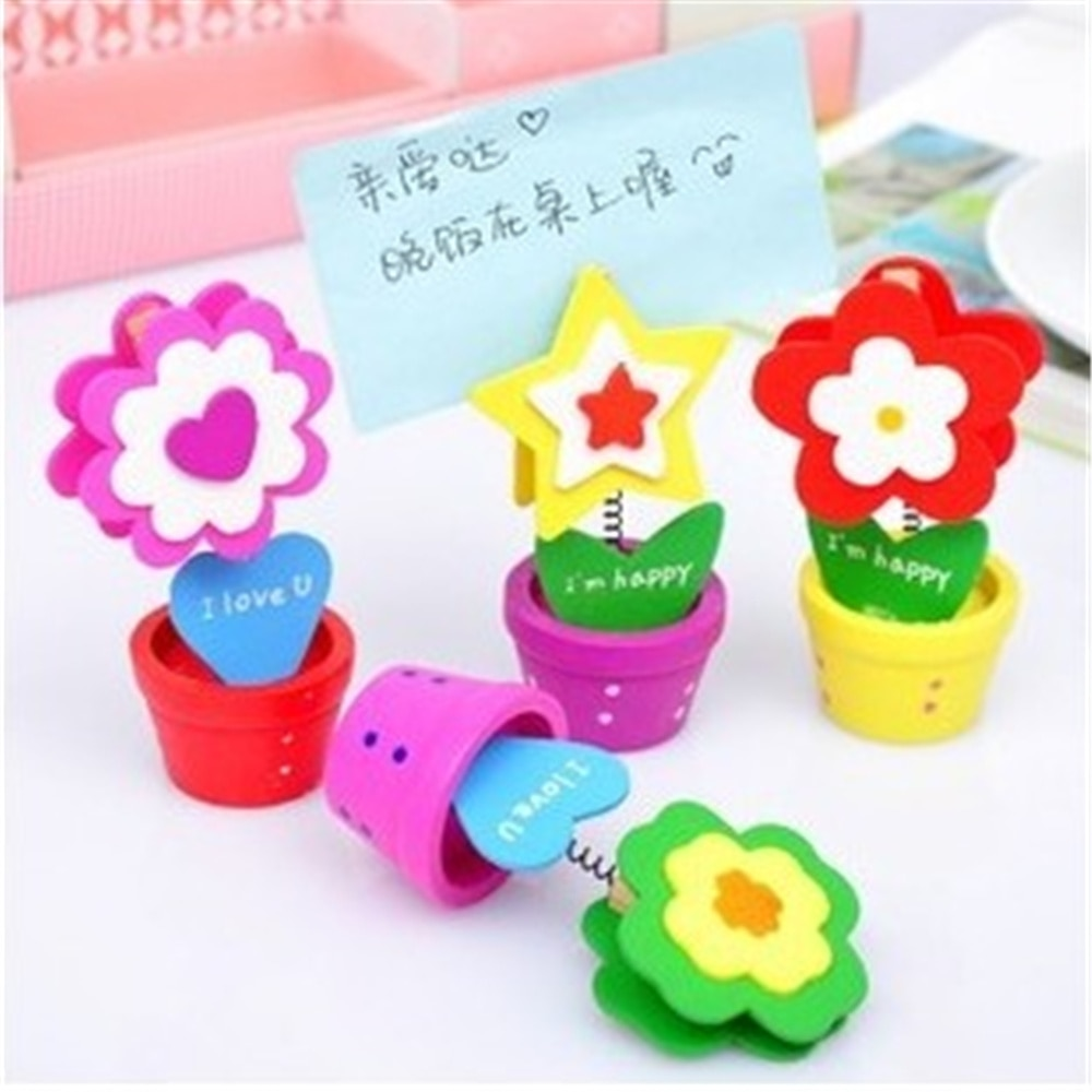 color cube stand alligator wire desk card note picture memo photo clip holder table wedding party place favor personalized gift 6pcs Cute Flower Shape Wedding Place Card Holder Picture Memo Note Photo Name Clip