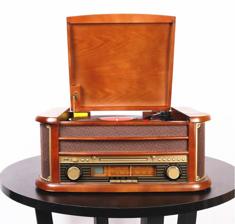HX كلاسيكي ريترو LP الفينيل جرامافون لاعب مسجل بلوتوث القرص الدوار مشغل أقراص مضغوطة ريترو راديو FM 220 فولت