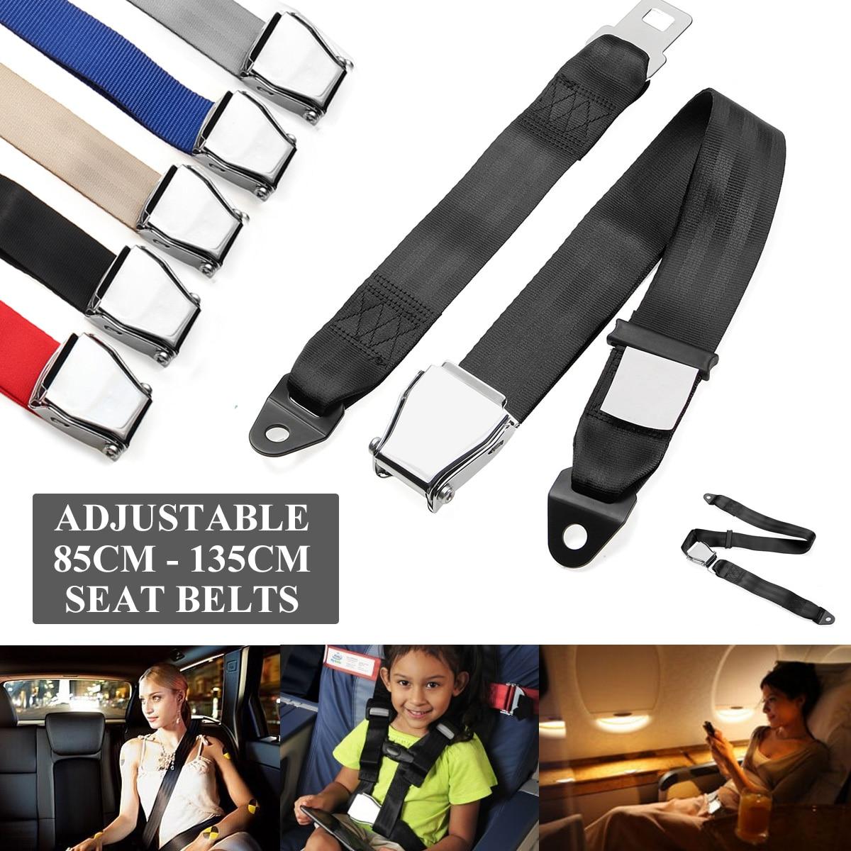 Cinturón de seguridad ajustable de 85 cm-128 cm para avión, extensores de cinturón de seguridad aeroespacial, arnés de cinturón de seguridad de coche Universal