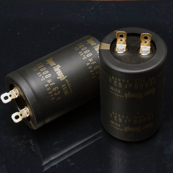 2020 hot sale 2PCS nichicon audio electrolytic capacitor KG Super Through 10000Uf/63V free shipping