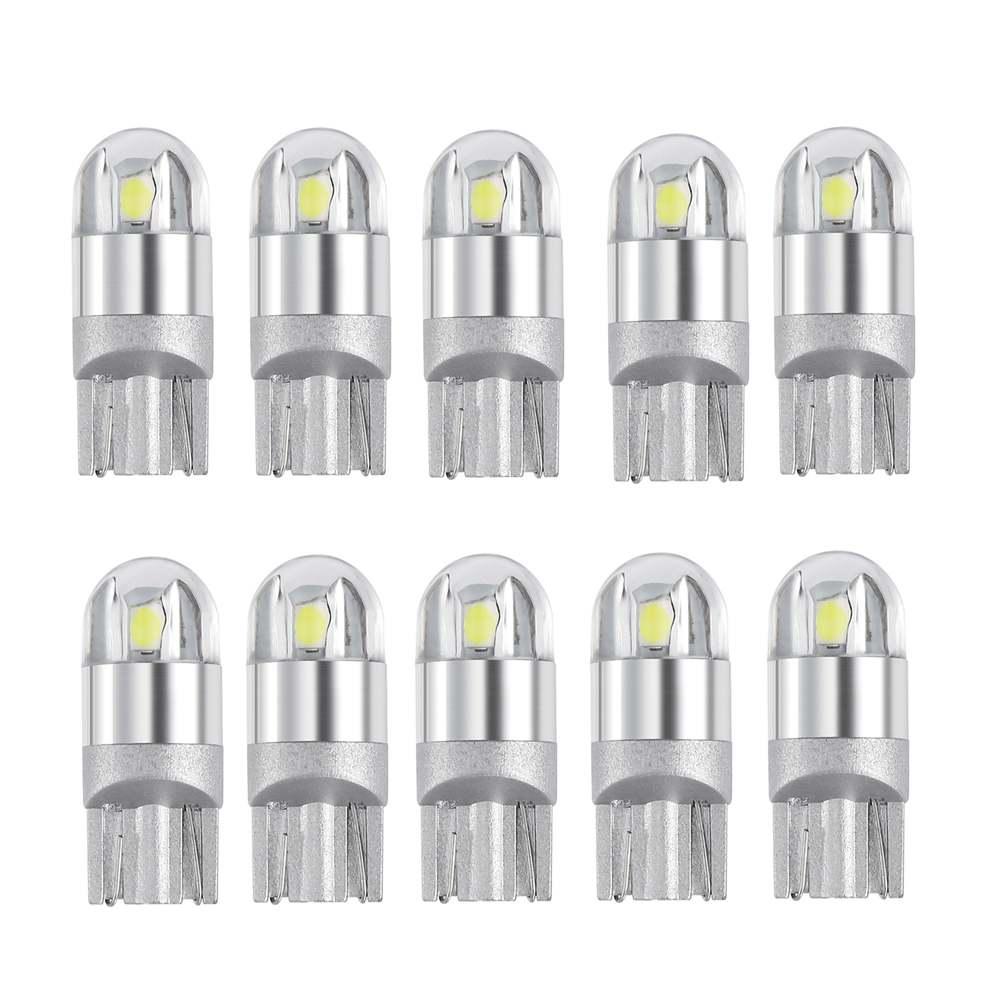 10 unidades de bombillas LED T10 impermeables W5W, luz Led para coche CANBUS SMD T10 w5w, luz de giro, diseño de placa de matrícula inversa para coche