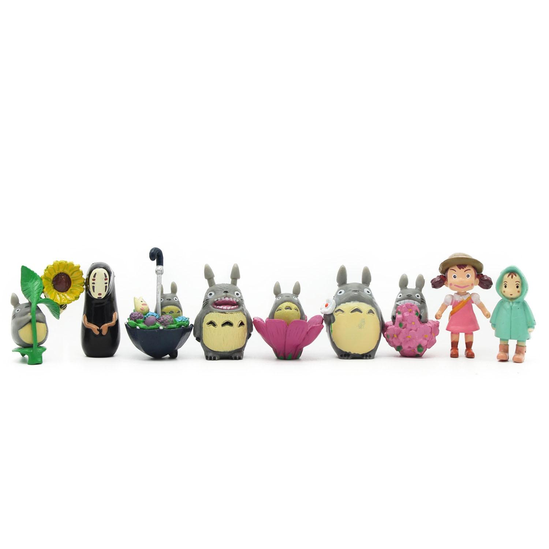 ¡Superventas! juego de 9 unids/set Hayao Miyazaki Totoro de dibujos animados Anime animación juguete modelo muñeca excelente regalo MagicToys 0015