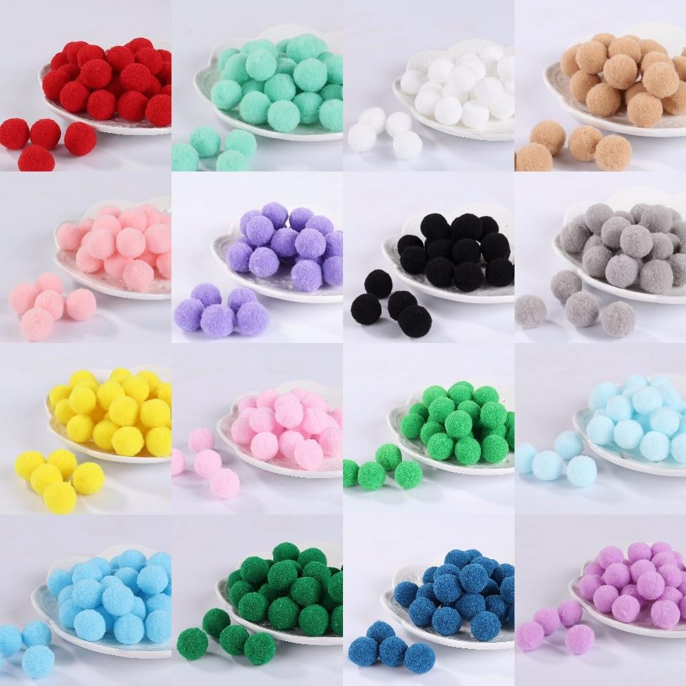 50Pcs Pom Poms 30mm Pompones Balls for DIY Party Pompom Home Garden Wedding Decoration Garment Sewing Kids Toys Accessories