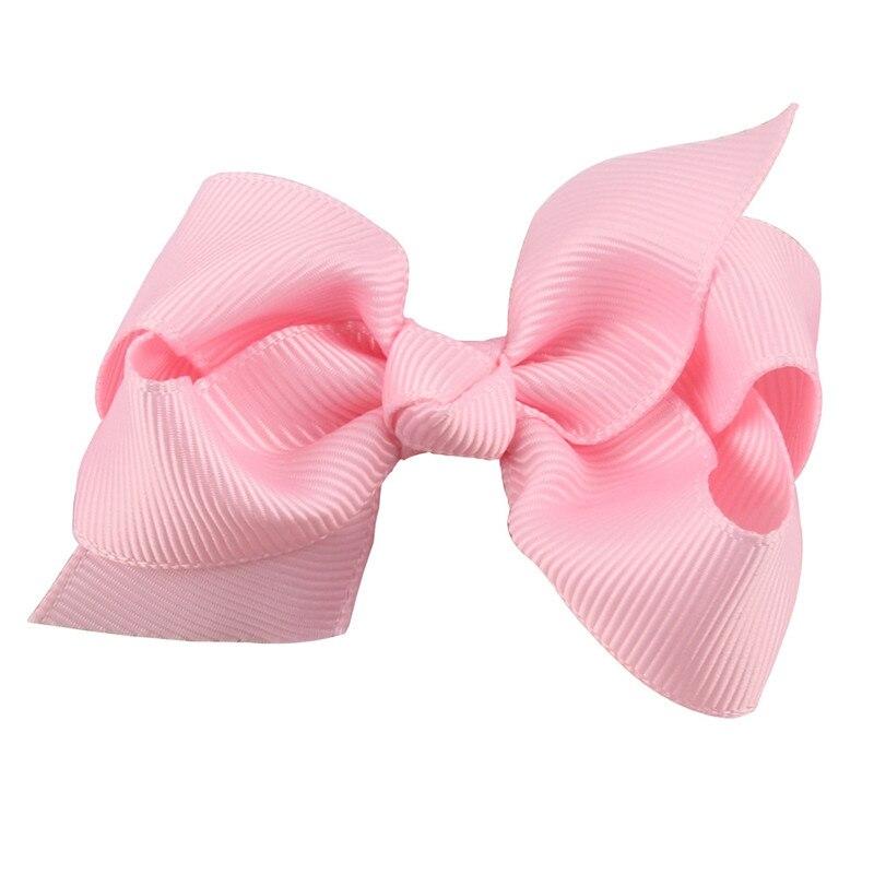 8CM Cute Boutique Hair Pin grogrén goma de pelo con lazo horquillas niña pequeña pinzas para el pelo con lazo niños Headwear accesorios nuevo