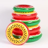 60708090cm pvc fuit swimming ring inflatable watermelon lemon swimming circle for adult kid children water summer party toys
