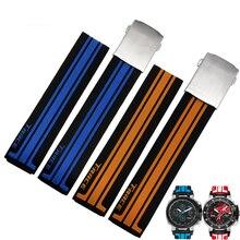 Ремешок для часов, резиновый силиконовый браслет для мужчин, 21 мм, для 1853 T048-417A