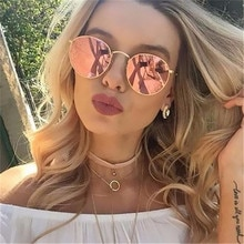 2018 Retro Round Sunglasses Women Brand Designer Men Sun Glasses For Women Alloy Mirror Sunglasses f