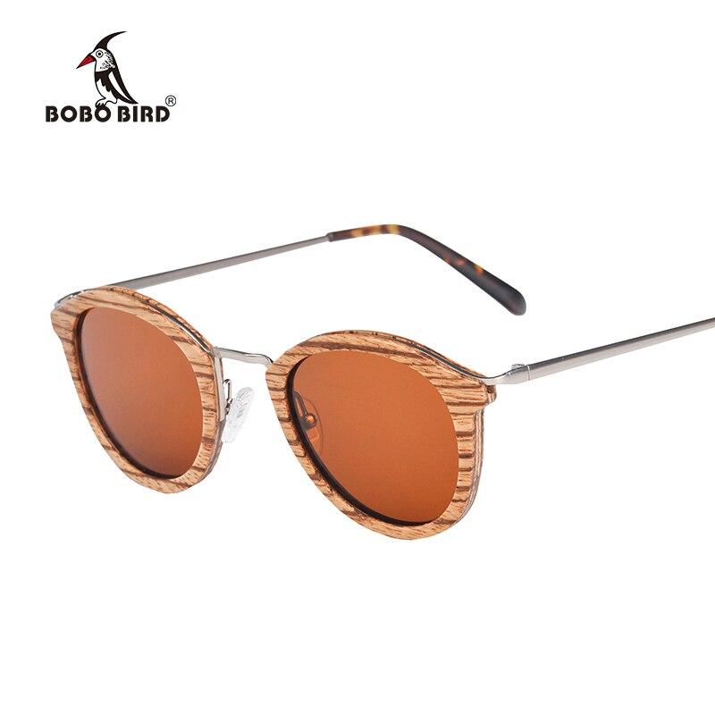 BOBO BIRD Gafas de sol polarizadas Vintage para hombre Gafas de sol de madera Retro para mujer Gafas UV400 Gafas de sol AG028