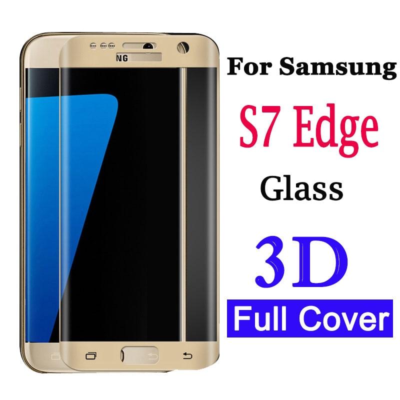 3D изогнутый протектор экрана для Samsung Galaxy S7 Edge закаленное стекло для Galaxy S 7 7edge защитная пленка Glas On Glaxy S7edge