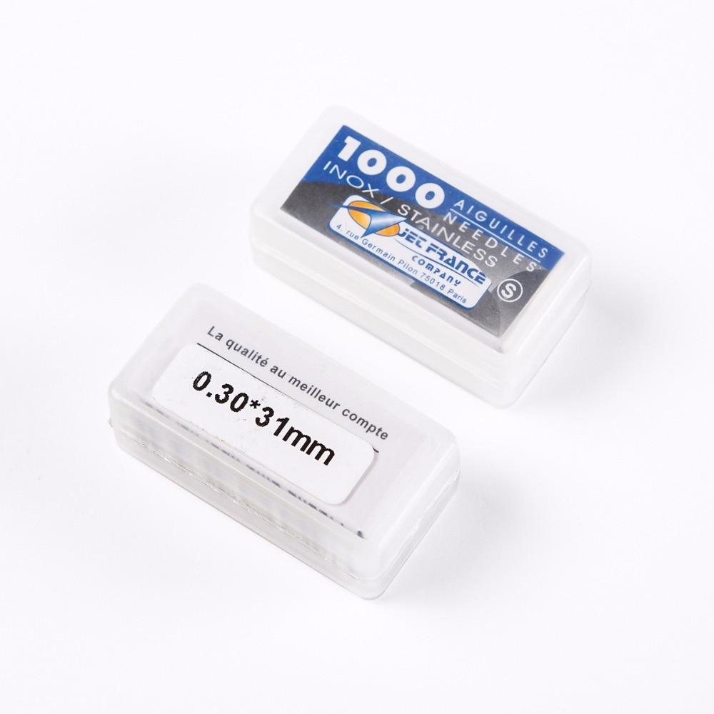 Venta al por mayor 10 cajas 1000 unids/caja 316 Acero inoxidable 0.30X31mm agujas profesionales de alta calidad para tatuajes agujas sueltas envío gratis