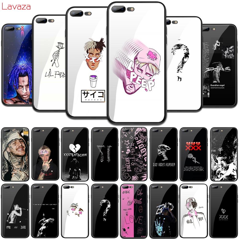 Lavaza XXXTENTACION Rosa peep Lil peep vidrio templado TPU para iPhone 6 iPhone 6 6S 7 7 Plus 5 5S SE XR X XS X 11 Pro MAX caso